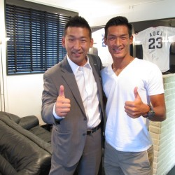 サムライブルー サッカー日本代表DF  浦和レッズ  槙野智章選手が遊びに来てくださいました。