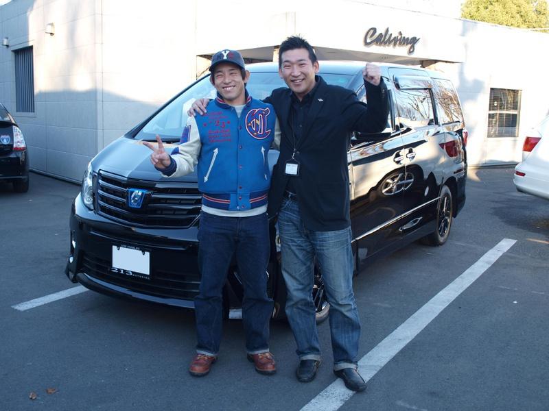 東京ヤクルトスワローズ #68 森岡良介選手に 新車 トヨタ アルファード ハイブリッドをご納車させて頂きました。