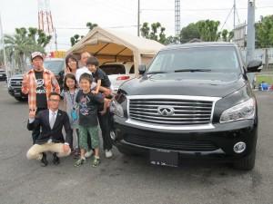 埼玉県さいたま市のO様に 新車 INFINITI QX56をご納車させて頂きました。
