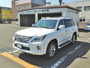 北海道札幌市のK社長様に 新車 USレクサス LX570 をご納車させて頂きました。