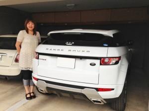 福島県のT様に 新車 レンジローバー イヴォーク をご納車させて頂きました。