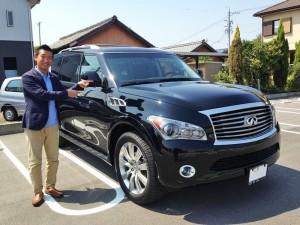 愛知県高浜市のS様に 新車インフィニティ QX56 をご納車させて頂きました。