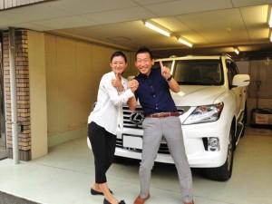 東京都世田谷区のS社長様に 新車 レクサス LX570 をご納車させて頂きました。
