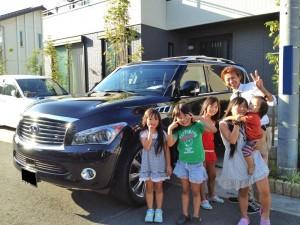 埼玉県東松山市にお住まいのT様に 新車 インフィニティ QX56 AWD フルオプション をご納車させて頂きました。
