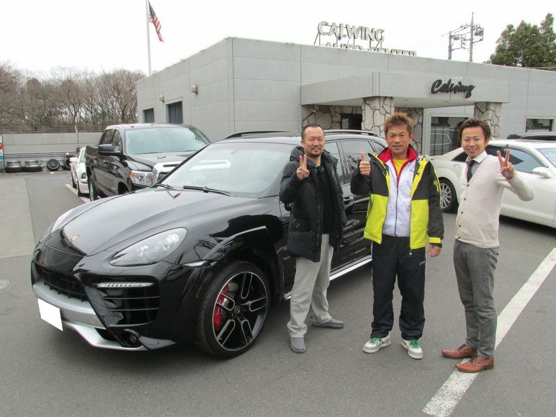 愛知県名古屋市のV様に 新車 ポルシェ カイエンターボ AWD CARACTERE WIDEBODY をご納車させて頂きました。