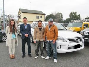 滋賀県のT社長様に 新車 レクサス LX570 をご納車させて頂きました。