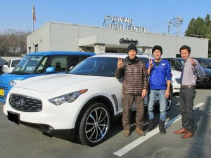埼玉県鶴ヶ島市のK社長様に 2009y インフィニティ FX35 AWD をご納車させて頂きました。