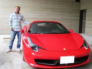 都内にお住いのO社長様に 新車 フェラーリ 458スパイダー をご納車させて頂きました。