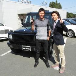 東京ヤクルトスワローズ #50 上田剛選手に メルセデスベンツG500L をご納車させていただきました。