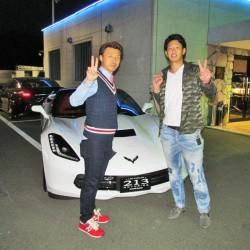 埼玉西武ライオンズ #32 浅村栄斗選手に 新車 新型コルベット スティングレイ をご納車させていただきました。