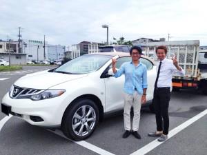 京都府のK社長様に 日本未発売モデル 2014y USニッサン ムラーノ  クロスカブリオ  AWD をご納車させて頂きました。
