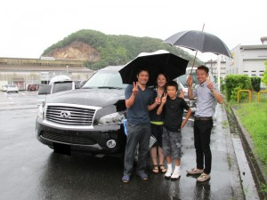 鳥取県倉吉市のN社長様に 新車 インフィニティー QX80 AWD をご納車させて頂きました。