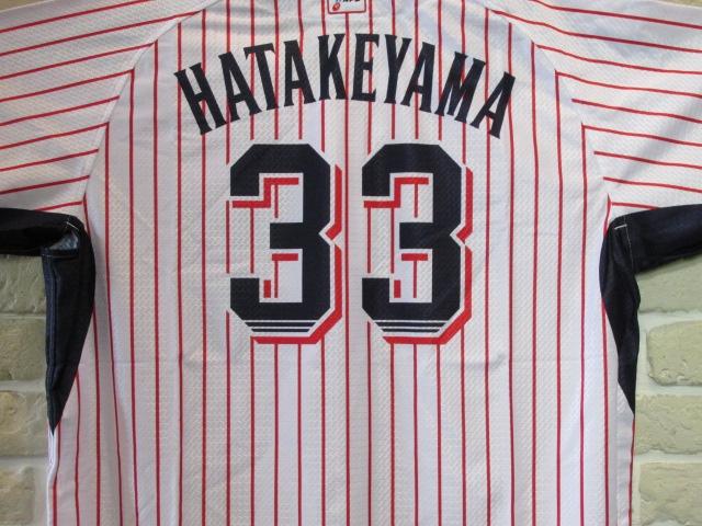 東京ヤクルトスワローズ #33 畠山和洋選手に、公式戦で着用しておりましたユニフォームを頂戴致しました。