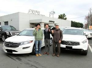 埼玉県のK様にUSホンダ  アコードクロスツアー EX-L  日本未発売モデルをご納車させて頂きました。