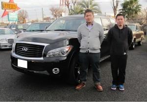 東京都のO様にINFINITI QX56 AWD デラックスツーリングPKG タイヤホイールPKG シアターPKGをご納車させて頂きました。