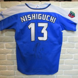 21年間お疲れ様でした! 埼玉西武ライオンズ #13 西口文也投手に貴重な公式戦ユニフォームを頂戴いたしました。