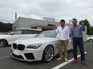 茨城県のS社長様に BMW750Li MANSORY VERSION をご納車させていただきました。
