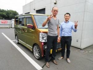 千葉県のM様に新車エブリィワゴン スペシャルオーダーカラー車をご納車させて頂きました。