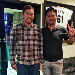 オリックスバッファローズ #1 中島裕之選手が シーズンを終えて遊びに来てくださいました。