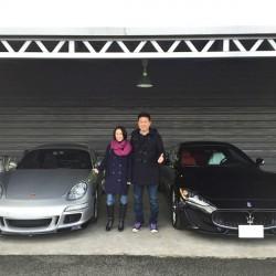 2台目、そして3台目のご購入ありがうございます! 東京都のA社長様にマセラティ グラントゥーリズモS  MCシフト スポーツVERSIONをご納車させていただきました。