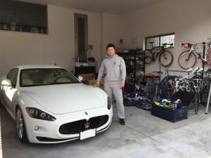 4台目のご購入有難うございます! 地元埼玉の競輪選手 最高峰のS級S班、平原康多選手に マセラティ グラントゥーリズモS MCシフトをご納車させていただきました。