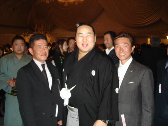 朝青龍史上初7連覇の祝賀会に出席しました。