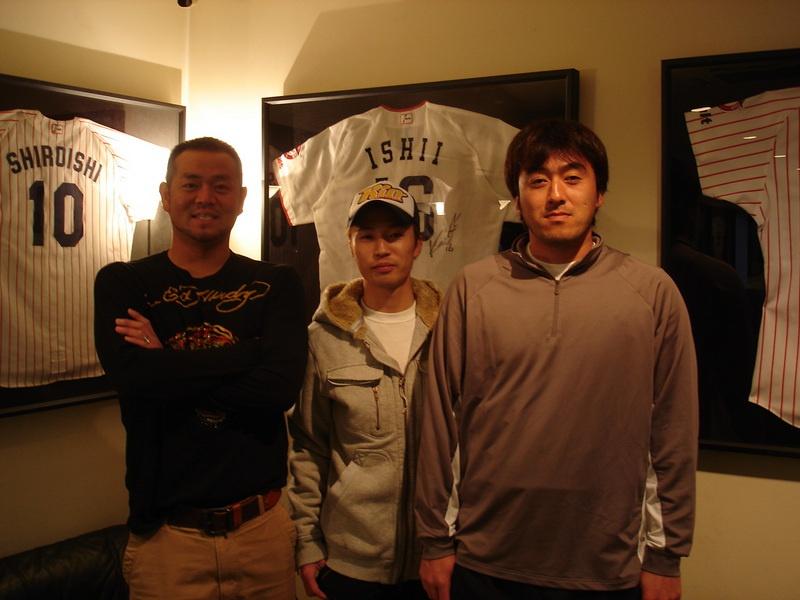 埼玉西武ライオンズ 石井一久さん  東京ヤクルトスワローズ 石井弘寿さん が遊びに来てくださいました。