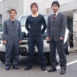 北海道日本ハムファイターズ 金森敬之投手のH3を車検でお預かりし、納車に合わせて遊びに来てくださいました。