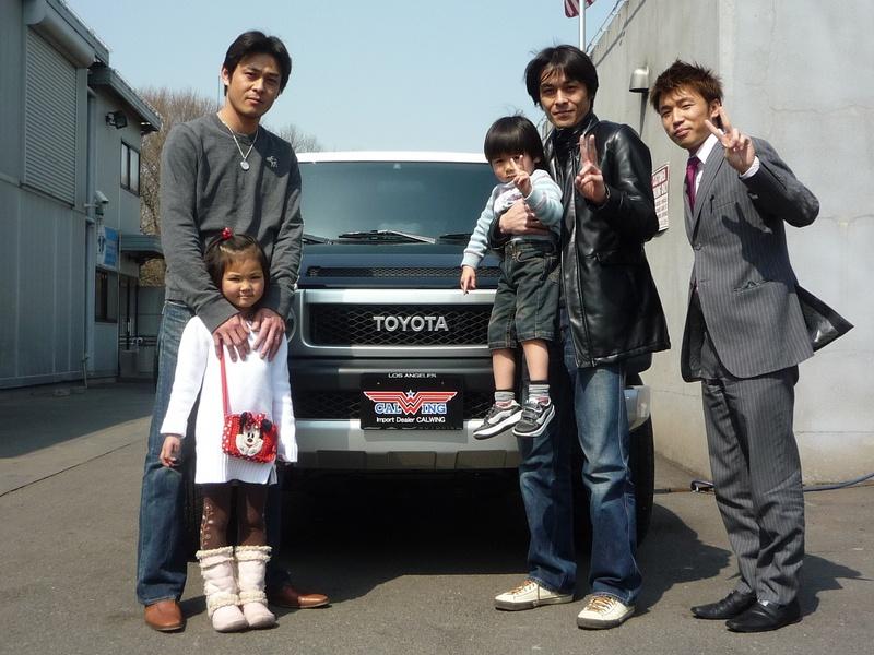 元読売ジャイアンツ 進藤さんに新車 USトヨタ FJクルーザー をご納車させていただきました。