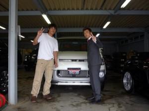 東京ヤクルトスワローズ 米野智人選手に 新車 デリカD5 をご納車させていただきました。