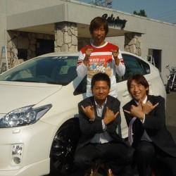 カリスマDJ 宇治田みのるさんに 新型プリウス をご納車させていただきました。