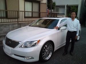 東京都豊島区にお住まいのO社長様に希少 07y USレクサス LS460L 新車並行 をご納車させて頂きました。