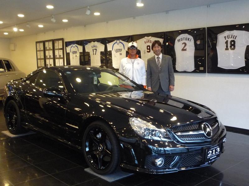 埼玉西武ライオンズ 平尾博嗣選手に メルセデスベンツ SL550 をご納車させていただきました。