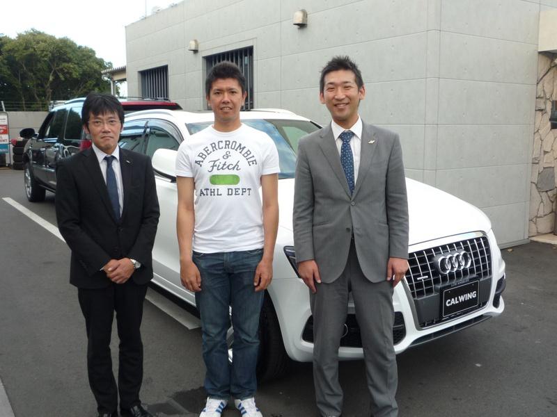 埼玉西武ライオンズ 長田秀一郎投手に 新車 アウディ Q5 S-line をご納車させていただきました。