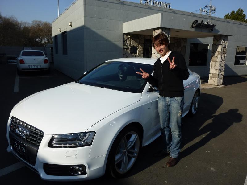 いつもお世話になっております埼玉西武ライオンズ #20 野上亮磨投手に 新車 アウディ S5 をご納車させて頂きました。