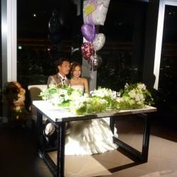 いつも大変お世話になっておりますカリスマ美容師のK様の結婚披露宴にお呼ばれ致しました。