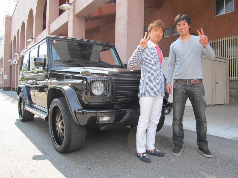 東京ヤクルトスワローズ #5 川端 慎吾選手にメルセデスベンツ G500Lをご納車させて頂きました。
