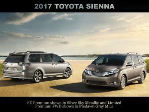 新車カタログ 2017y US TOYOTA  SIENNA トヨタ シエナ 更新致しました。