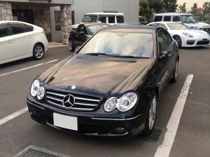 千葉県のM様にメルセデスベンツ CLK200コンプレッサー アバンギャルドをご納車させていただきました。