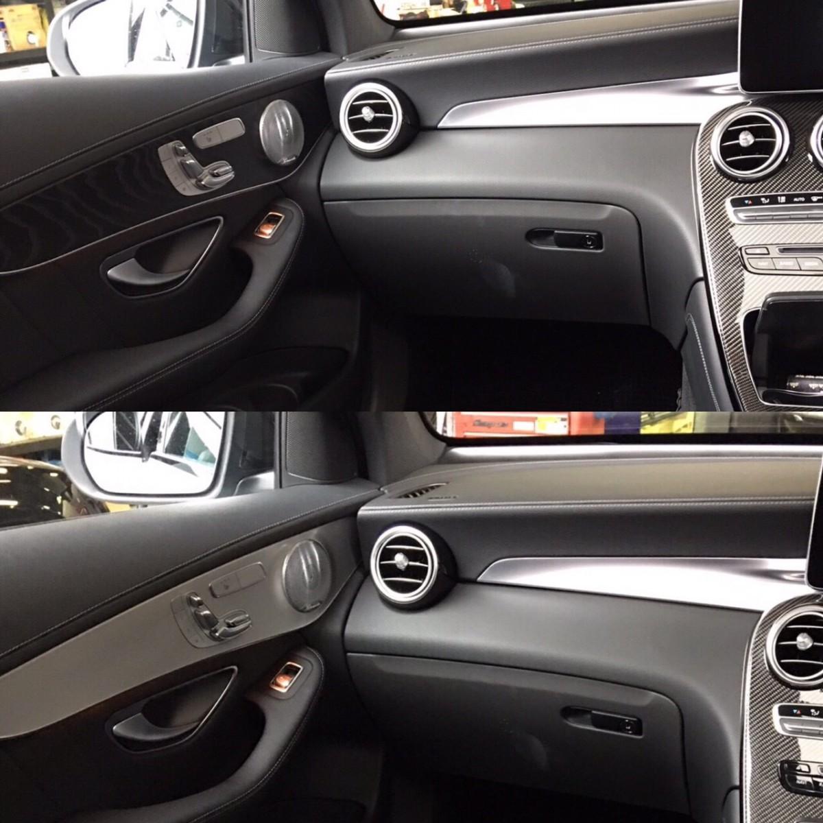 前回ブラックカーボンセンターパネルとAMGプレート付きステアリングアンダーステーを取り付けさせて頂きましたMercedes-Benz GLC に今回は内装ドア内パネル交換を行ないました。ウッド製の物からアルミ製へ変更しよ […]
