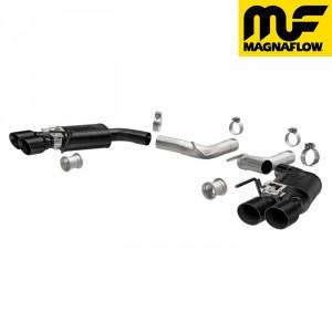FORD MUSTANG マスタング 5.0L マグナフロー/MAGNAFLOWマフラー アクスルバック コンペディションシリーズ クアッドスプリットリア ブラック '18y〜