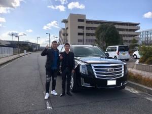 2台目のご購入有難うございます! 大阪府のY様に新車 キャデラック エスカレード ESV プラチナムをご納車させていただきました。