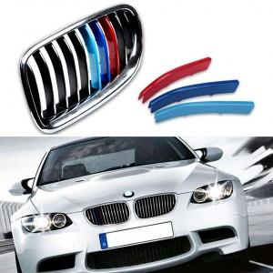 簡単取付け BMW 5シリーズ F10 F11 528I 535I 550I Mパフォーマンスブラックキドニーフロントグリルインサートトリム '14y〜'16y