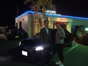 5台目のご購入有難う御座います。 地元所沢のK社長様に新車メルセデスベンツ AMG E43をご納車させて頂きました。