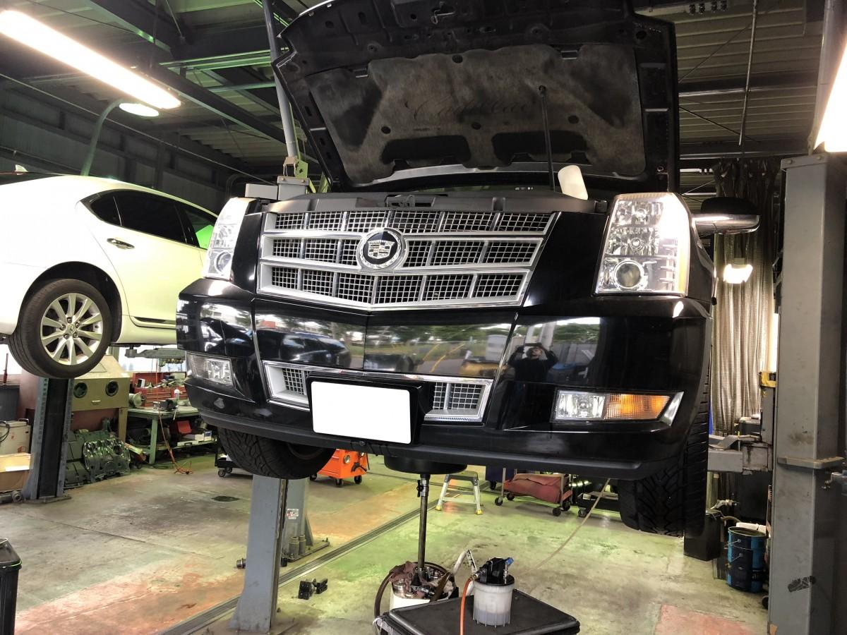 本日の工場 車検 整備 レクサス ラングラー エスカレード コルベット QX56カスタム