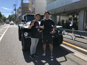 東京都のT様にジープ ラングラー アンリミテッド  LA BAD WRANGLERをご納車させて頂きました。