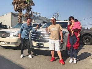 埼玉県のW社長様にキャデラック エスカレード ESVをご納車させていただきました。