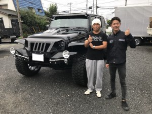 東京都のT社長様にジープ ラングラー アンリミテッド LA BAD WRANGLERをご納車させて頂きました。