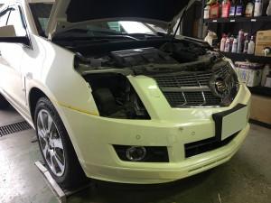 2011年 キャデラック SRX ヘッドライト 不灯 バラスト不良 浸水