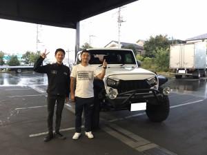 東京都のF社長様に JEEP ラングラー アンリミテッド LA BAD WRANGLERをご納車させて頂きました。